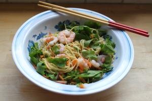 Prawn and noodle salad