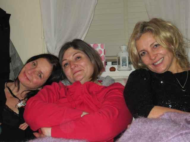 3 on sofa