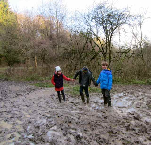3 stuck in the mud