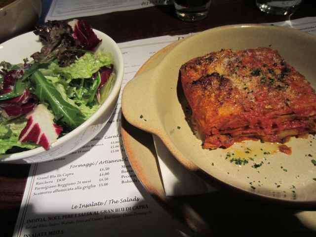 Aubergine parm and green salad