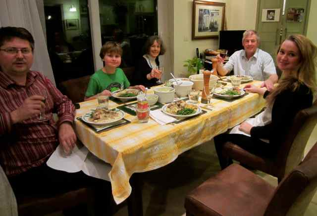 Dinner at Grandpa Ian's