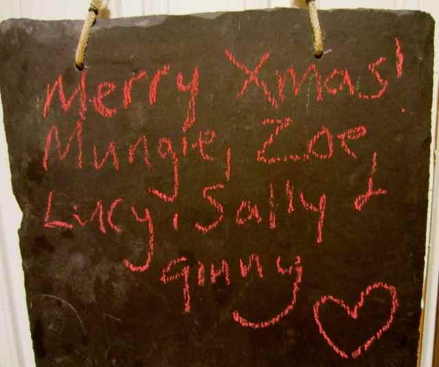 Emily's chalk note