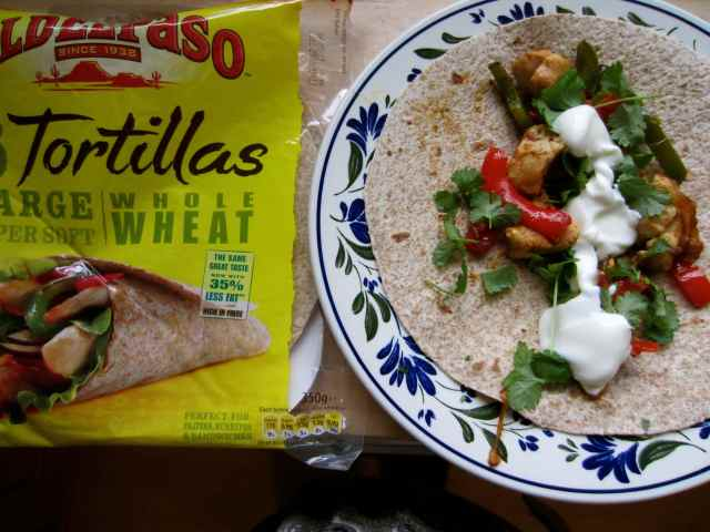 Fajitas and toertillas