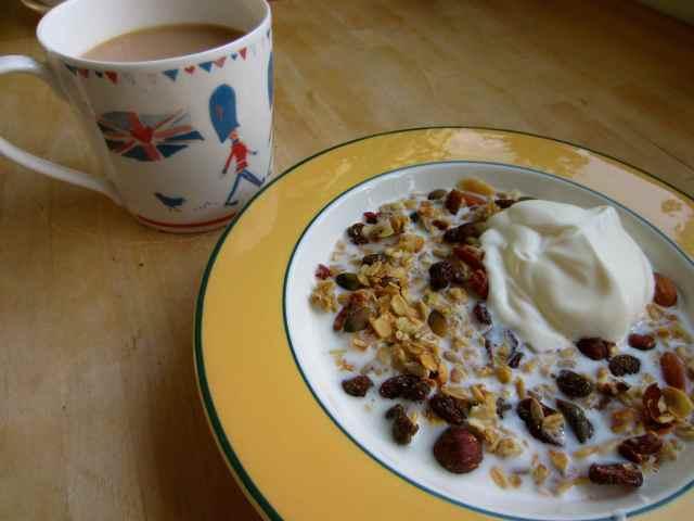 Granola and a cuppa
