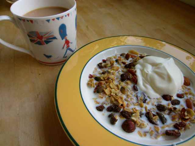 Granola and a cuppa