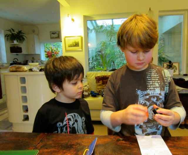 H and J doing magic