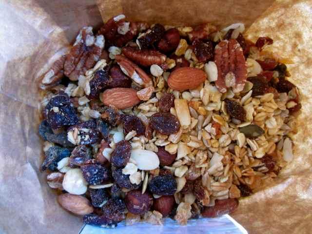 Inside the muesli bag