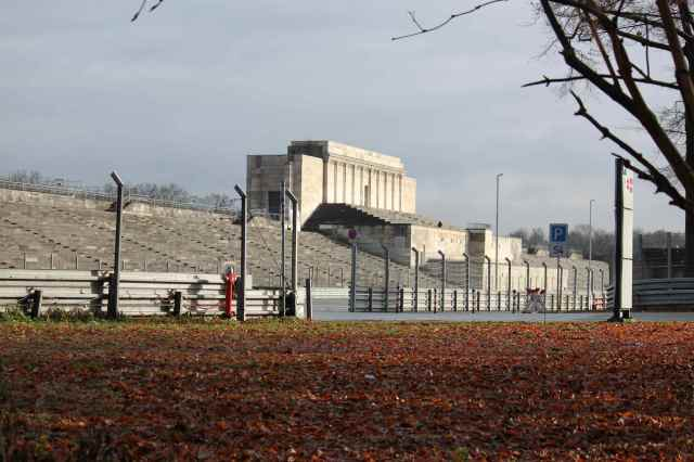 Remnants of main stand in Zeppelin field