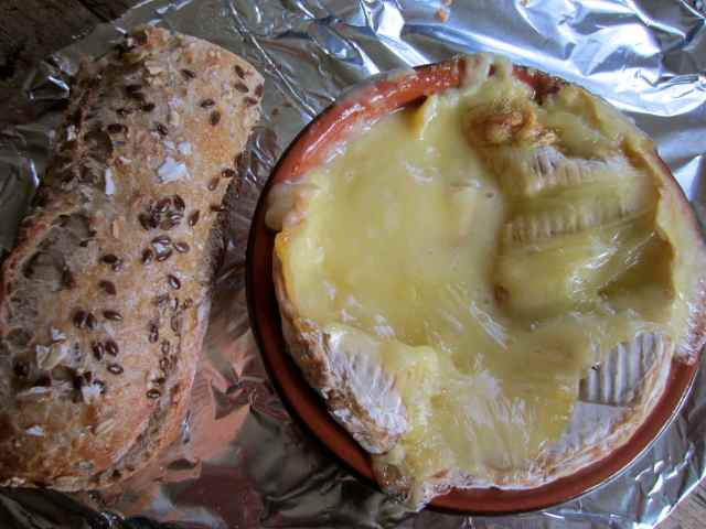 seed baguette and camembert