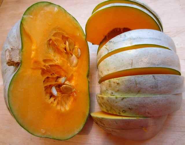 Sliced squash