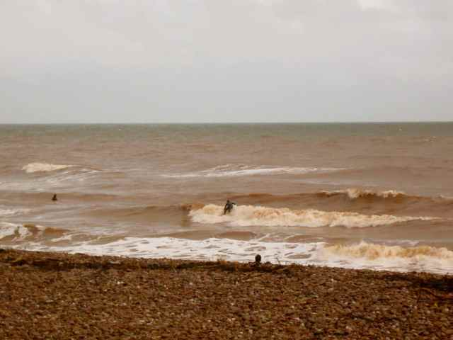 surfers at Sidmouth