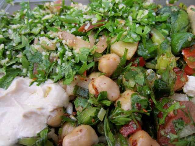 TAS salad close up