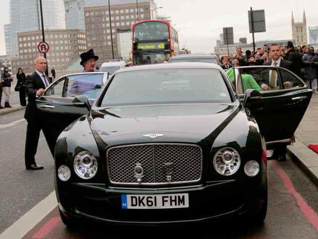 The Queen's car