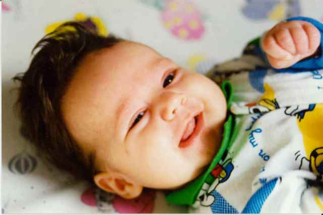 Baby Lara laughing