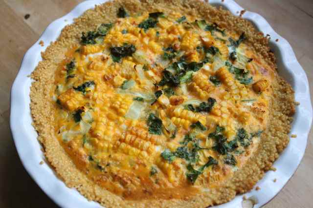 baked millet and kale fritata