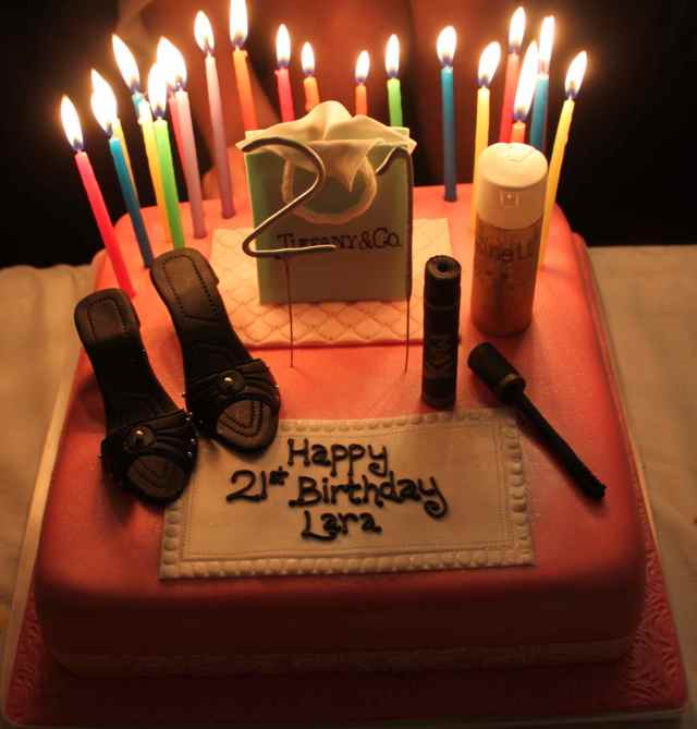 cake with candels