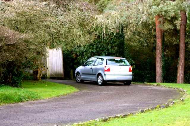 Car going through gate