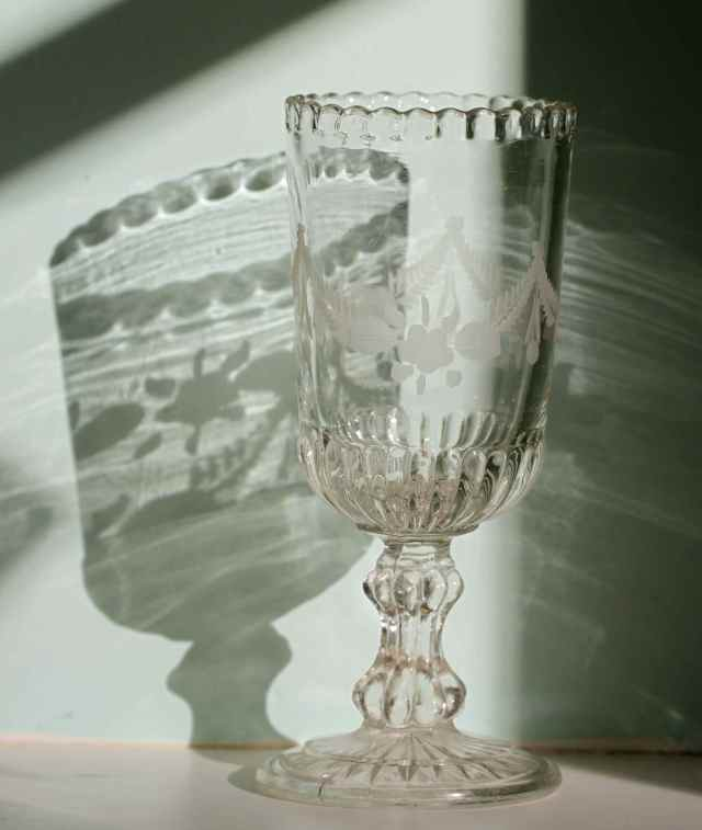 celery glass and shadow