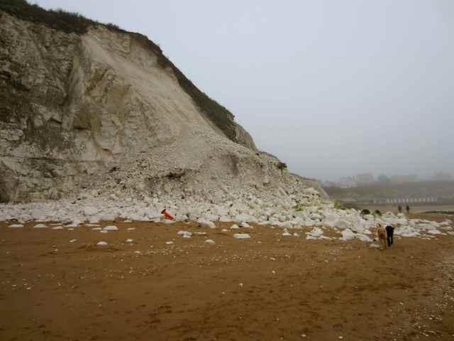 Chalk landslide at Louisa Bay