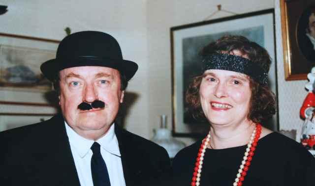 Dad and Jilly in fancy dress