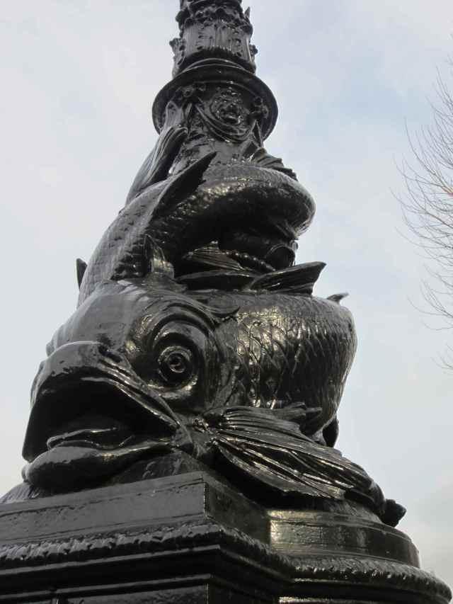 fish on lamp post