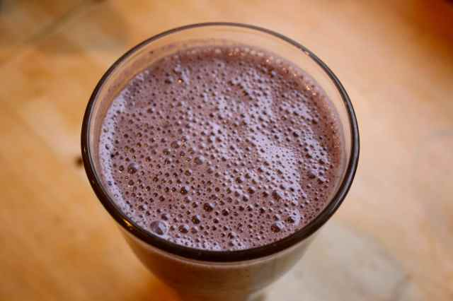 frothy smoothie