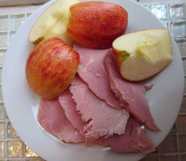 ham and apple