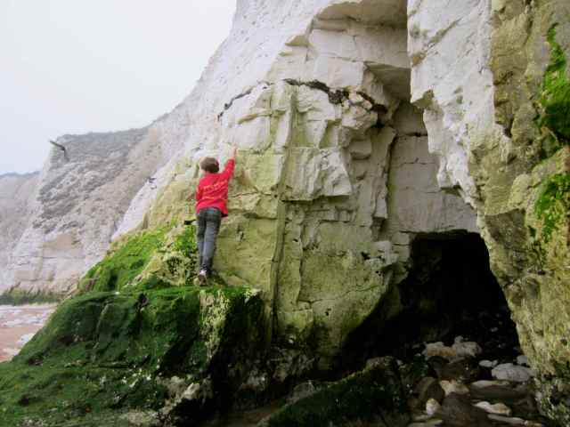 Harvey on chalk cliffs