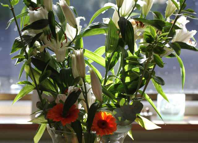 large vase of flowers