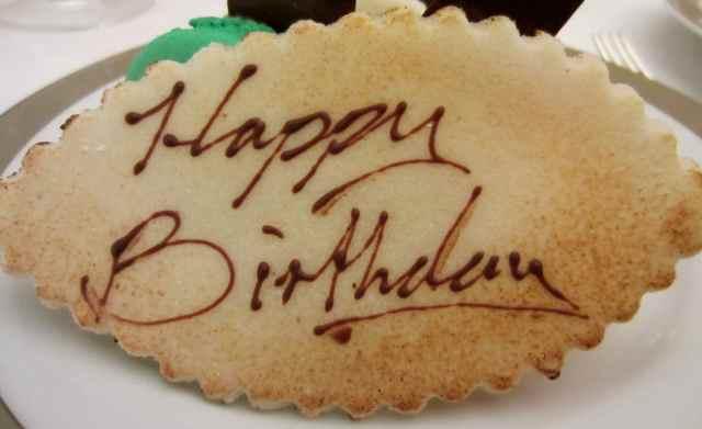 Marzipan Happy Birthday