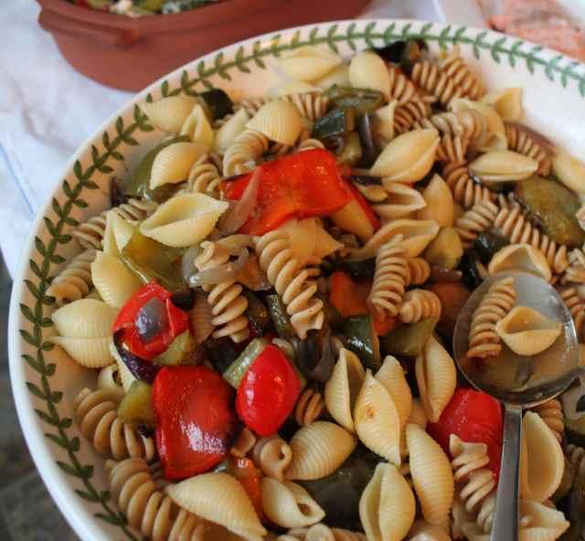 med veg and pasta