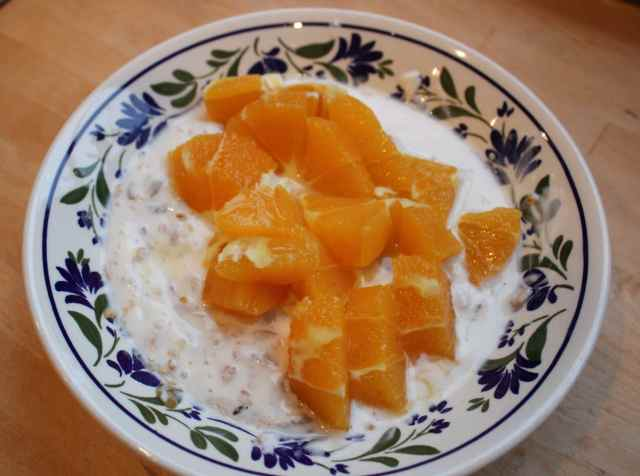 muesli and oranges