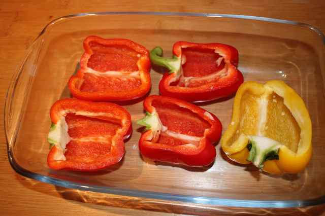 Peppers in dish