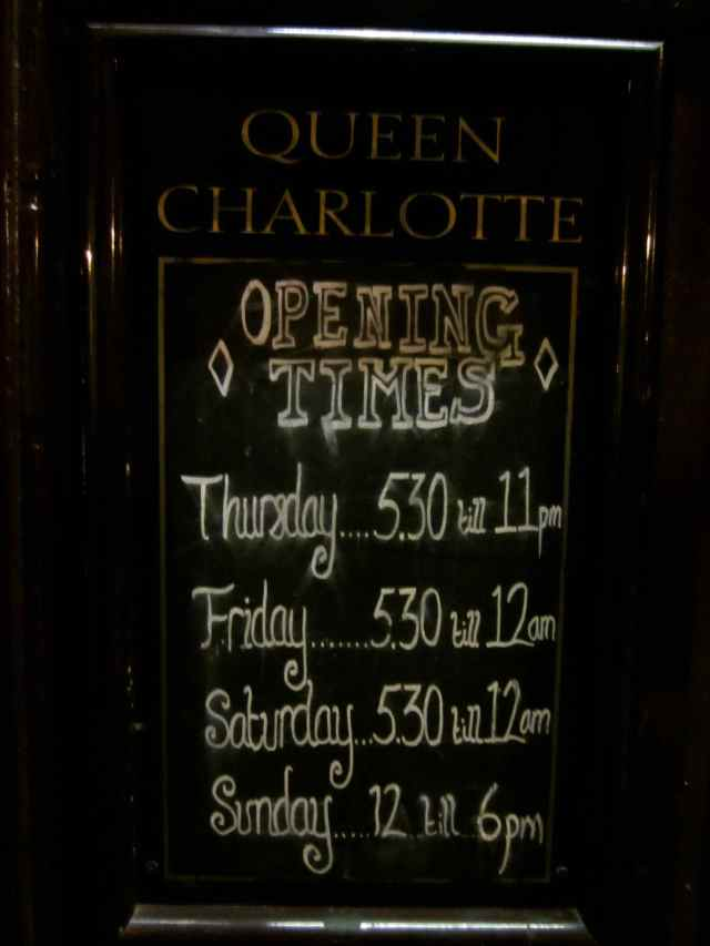 Queen Charlotte opening times