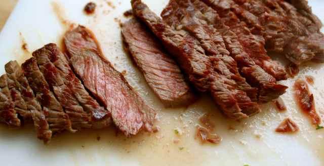 Rump Steak sloced