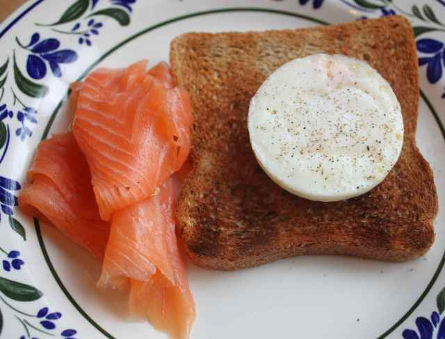 smoked salmon and egg