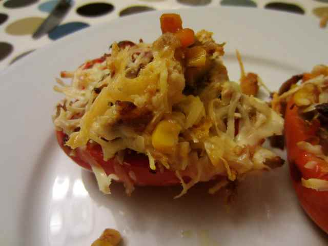 stuffed pepper close up