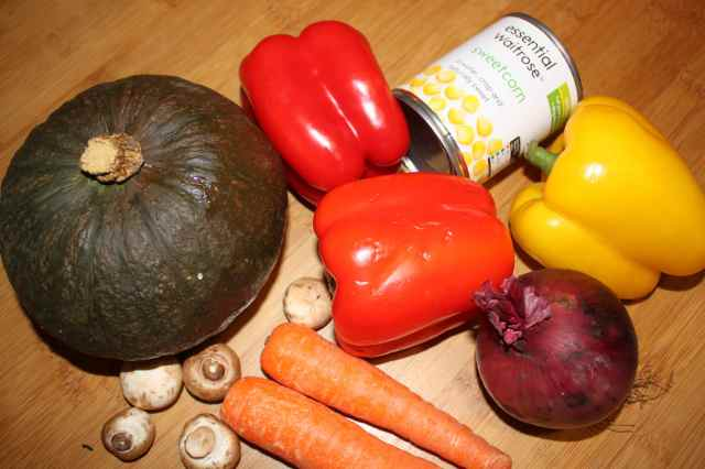 Veg for stuffed peppers