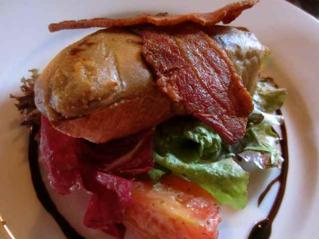 Welsh Rarebit and bacon