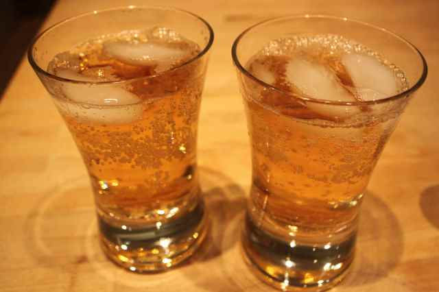 whisky and ginger ale