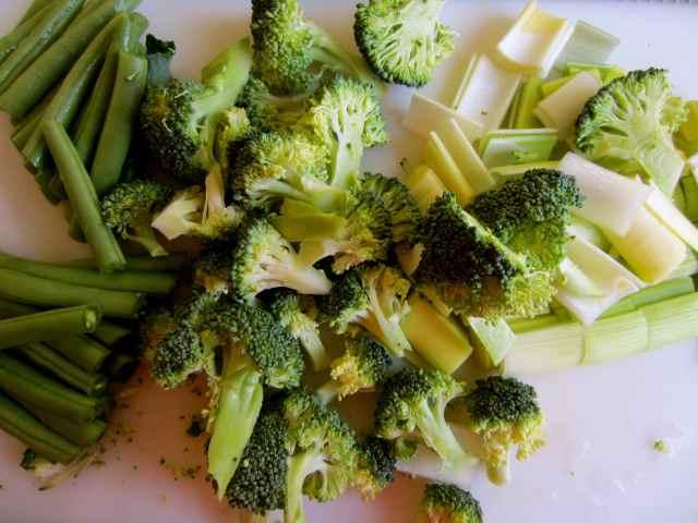 3 green veg