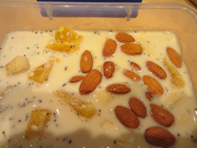 almonds added