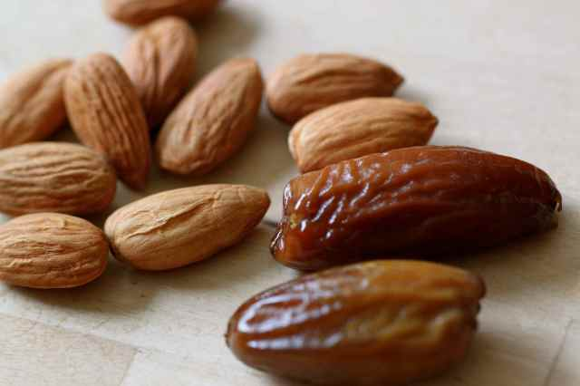 almonds and dates