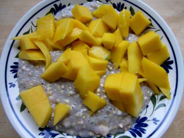 buckwheat and mango breakfast