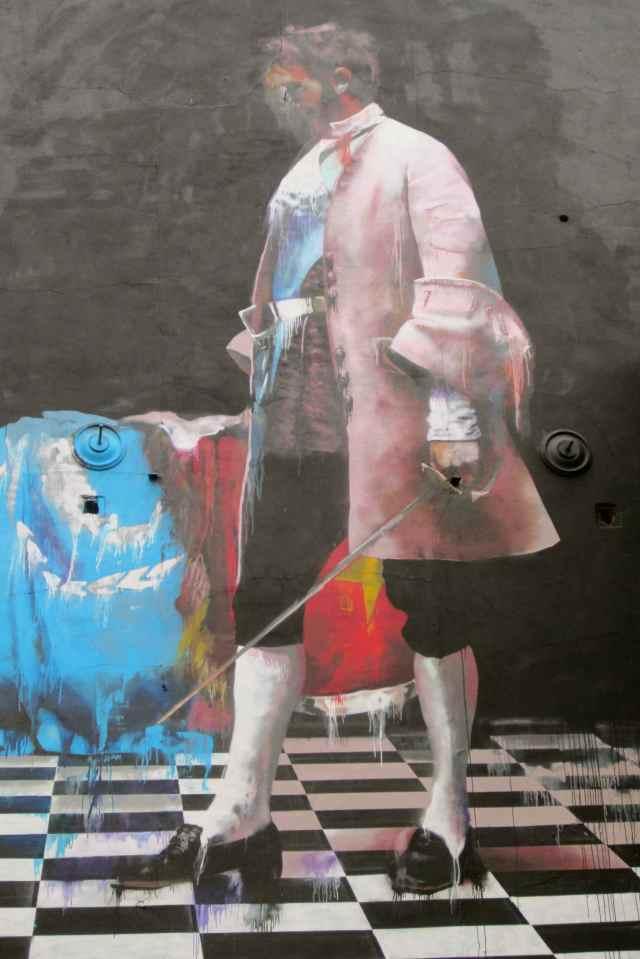 Drippy mural
