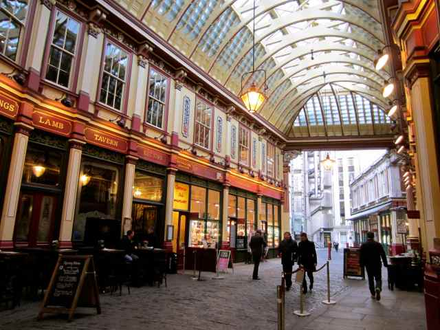 Leadenhall Market and lloyds