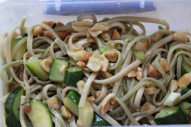 noodles and veg and peanuts