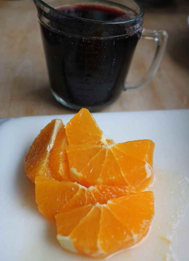 orange and cherry juice