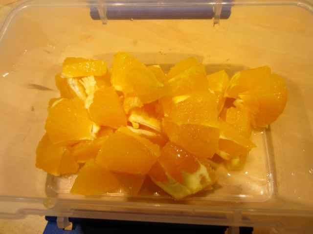 oranges in pot