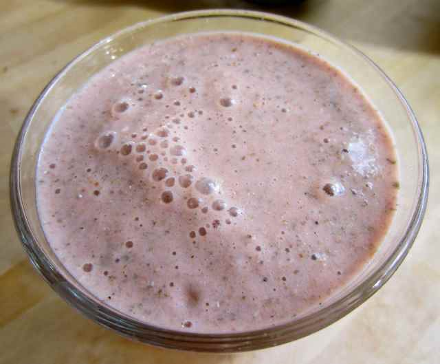pale pink smoothie